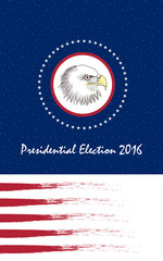 Vote Presidential Election. Design for election in November, 2016. Bald Eagle as the symbol of USA