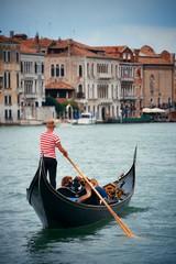 Poster Gondolas Gondola in canal in Venice