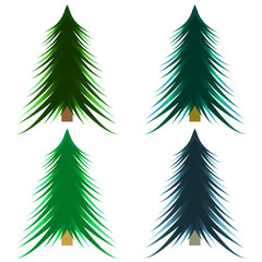 Picture of a flat Christmas tree icon