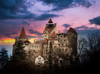 Canvas Prints Castle Bran Castle, Transylvania, Romania, known as