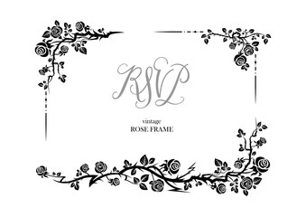 Rose rsvp invitation