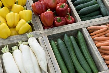 Bio-Gemüse im Verkauf