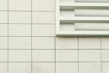 Abstract architecture. Close up of a building facade