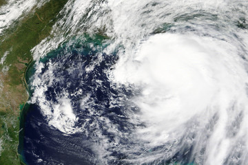 Hurricane Nate is heading towards New Orleans, Lousiana in October 2017 - Elements of this image furnished by NASA