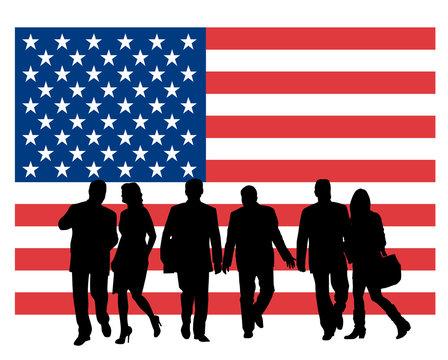 USA - Flag and Population