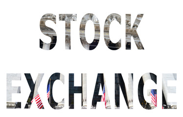 The word stock exchange in the symbol