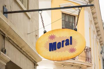 Schild 278 - Moral