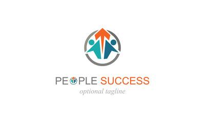 arrow up people success logo