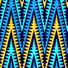 Abstract decorative texture with colorful zig zag pattern.High-resolution seamless texture