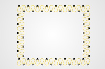 lamp frame simple vector