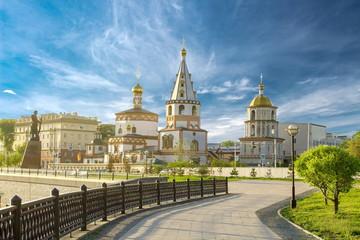 Church in the city of Irkutsk Fototapete