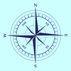 Nautical compass equipment in vector format