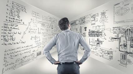 Math formulas on walls