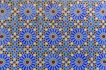 Tiles by Cathedral of St Mary the Crowned in Gibraltar