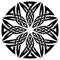 Celtic pattern. Element of Scandinavian or Celtic ornament
