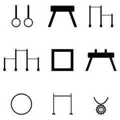 gymnastics icon set