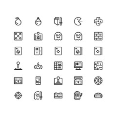 Minimal icon set of Video game Vector Line Icons Collection , good choice to use for website project , Ui and Ux design, mobile app and more. All vector icons based on 32px grid.