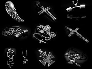 Big Set of Jewelry - Pendants and Necklaces