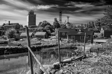 Utö Village Europe Finland archipelago sunny summer day