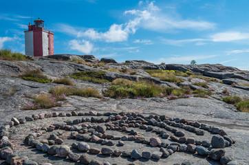 Stone labyrinth at the Utö island Finland