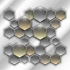 Hexagonal glass tiles. Vector illustration EPS10