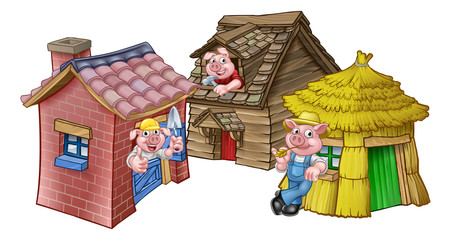 The Three Little Pigs Fairytale Houses