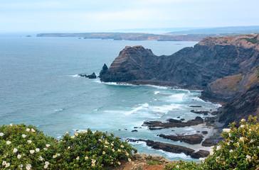 Poster Cote Summer Atlantic coast (Algarve, Portugal).