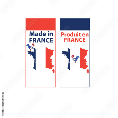 image relating to Printable French Flag identify Produced inside of France - printable sticker fixed. Includes french map
