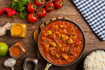 Traditional Indian and Pakistani cuisine. Tikka masala.