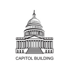 United States Capitol building icon in Washington DC