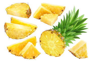 Pineapple isolated on white background. Collection