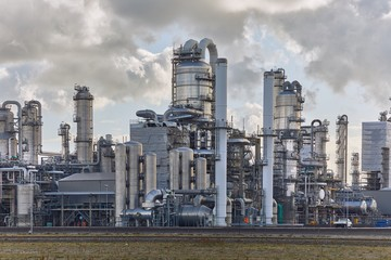 Smoking chemical plant