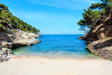 Summer Baia della Pergola beach, Puglia, Italy