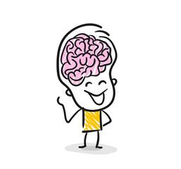 Strichfiguren / Strichmännchen: Gehirn, Intelligenz. (Nr. 121)
