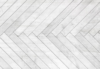 Obraz Natural gray wooden parquet herringbone. Wood texture. - fototapety do salonu