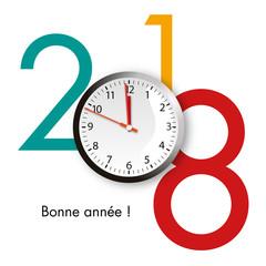 2018 - compte à rebours - carte de vœux - nouvel an - jour de l'an