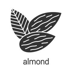 Almond glyph icon