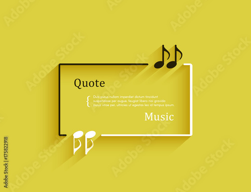 Quotes In The Form Of Musical Notes In A Frame Creative Quotation