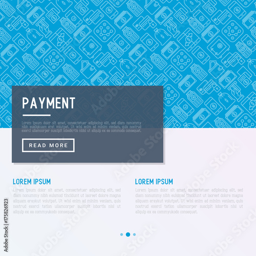 Payment Concept With Thin Line Icons Related To Credit Card Money Flow Saving