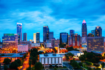 Overview of downtown Charlotte, NC