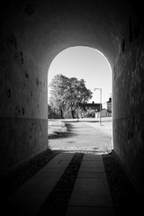 Tunnel in one of the military buildings of Suomenlinna island near Helsinki Finland