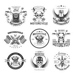 Motorcycle or bikers club logo templates