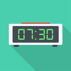 Digital Clock flat icon