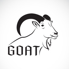 Vector of a goat design on a white background. Wild Animals.