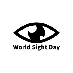 World Sight Day vector icon. Simple flat eye pictogram.