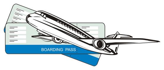 aircraft, plane, jet, flight, fly, airliner, boeing, transport, illustration, cartoon, wings,  air, tickets