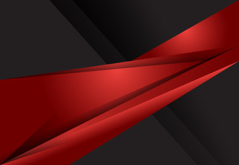 Red and Black abstract geometric material design background