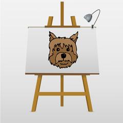 Vector illustration of a hand drawn dog