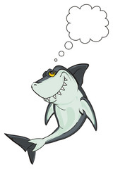 shark, predator, teeth, jaws, fin, fish, cartoon, animal, ocean, gray, wild, zoo, large clean callout, think