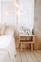Bright Christmas interior.
